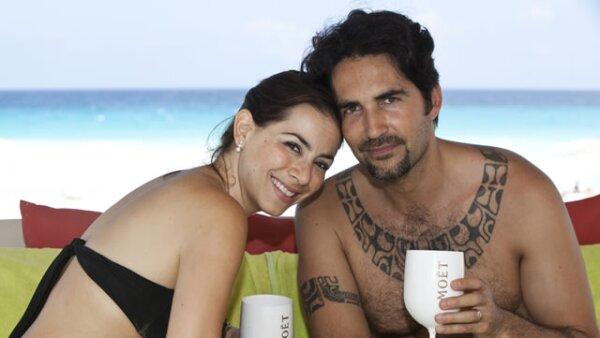 Claudia Lizaldi de vacaciones en Cancún.