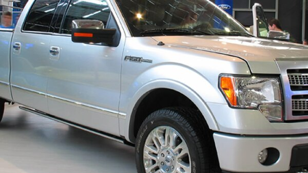 Ford, F-150. Una de las 14 camionetas tipo pick up aseguradas.
