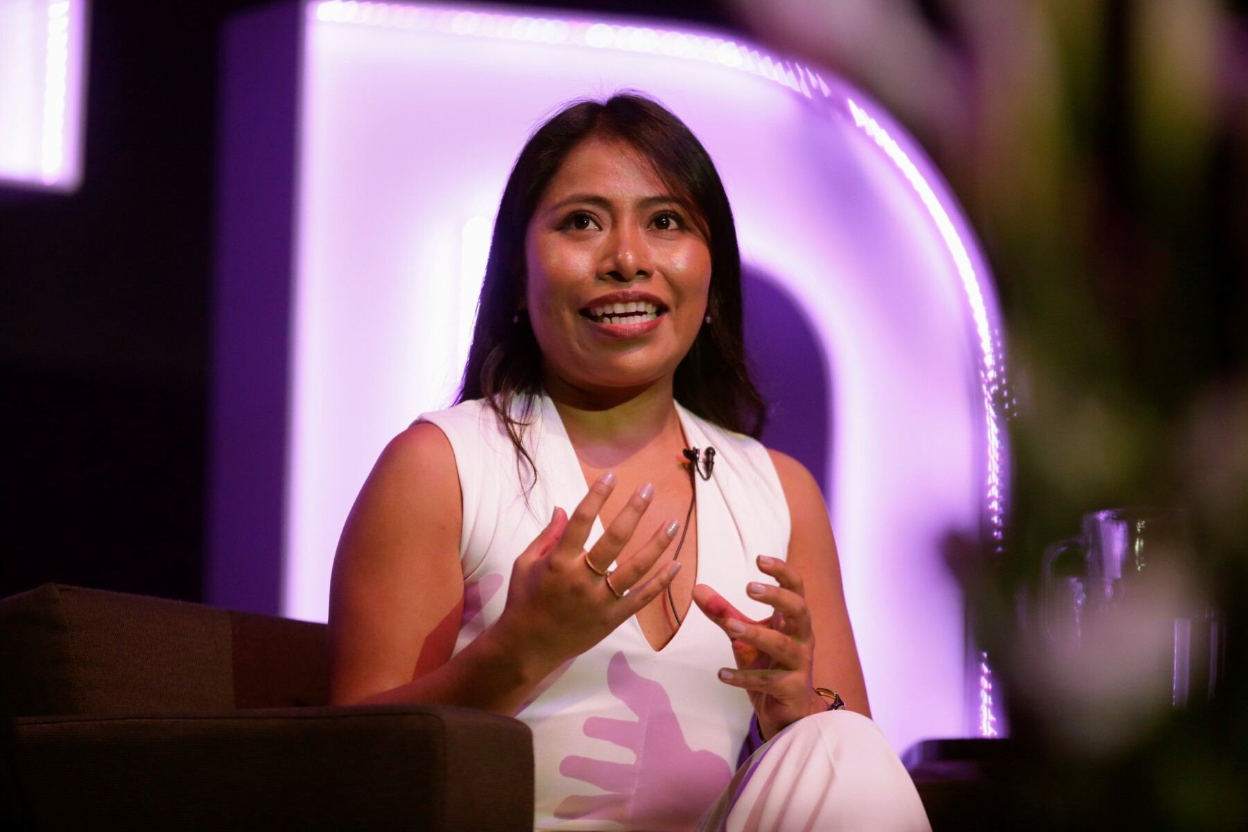 Mexican actress Yalitza Aparicio attends to the Gender Equity Forum at Luis Elizondo Auditorium in Monterrey