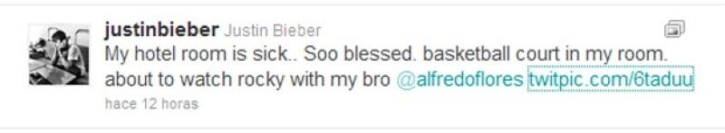 Este fue el mensaje que publicó Bieber en su Twitter.