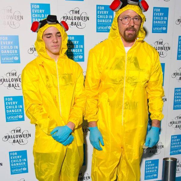 El esposo de Madonna y su hijo se mostraron fans de la serie televisiva Breaking Bad pues, tanto Guy como Rocco se transformaron en Jesse Pinkman y Walter White para la fiesta anual de Halloween de UNICEF, Londres.