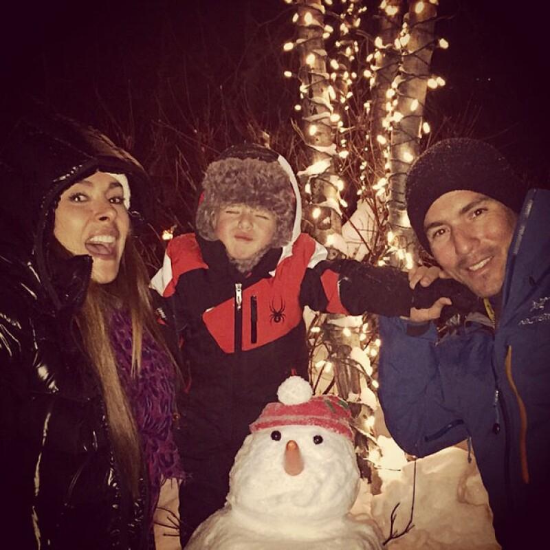 Luego de pasar navidad en Miami con su esposo Fernando Reina y su hijo Mateo, la conductora sigue la aventura disfrutando de las montañas nevadas y las bajas temperaturas de Estados Unidos.