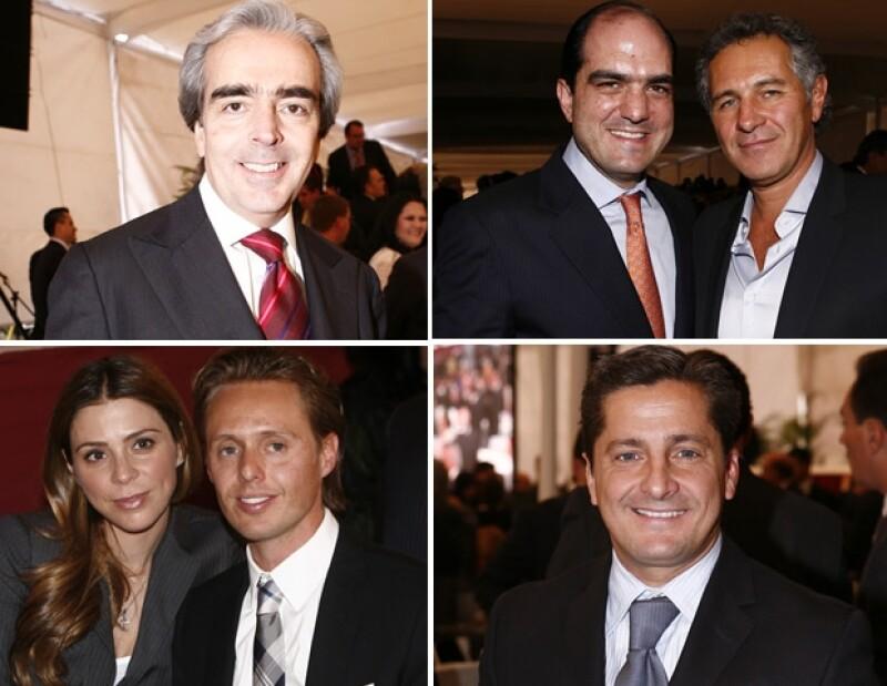 Al cumpleaños del arzobispo Antonio Chedraoui llegaron Lorenzo Lazo, Daniel Karam, Juan Carlos Peralta y Alejandro Basteri.