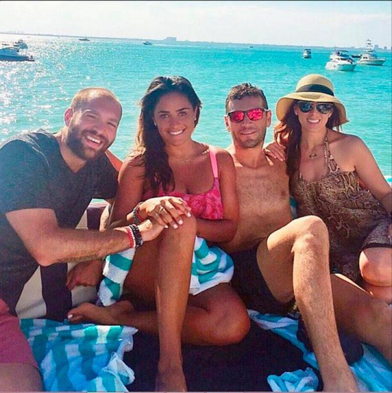 La pareja convivió con Alessandra Rojo de la Vega y Emmanuel Grey.