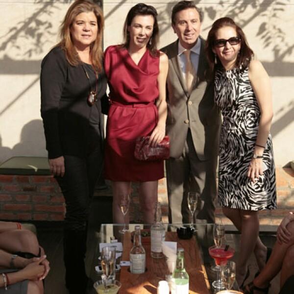 Sonya Santos, Claudia Marcucetti, Rafael Micha y Yolanda Ruiz