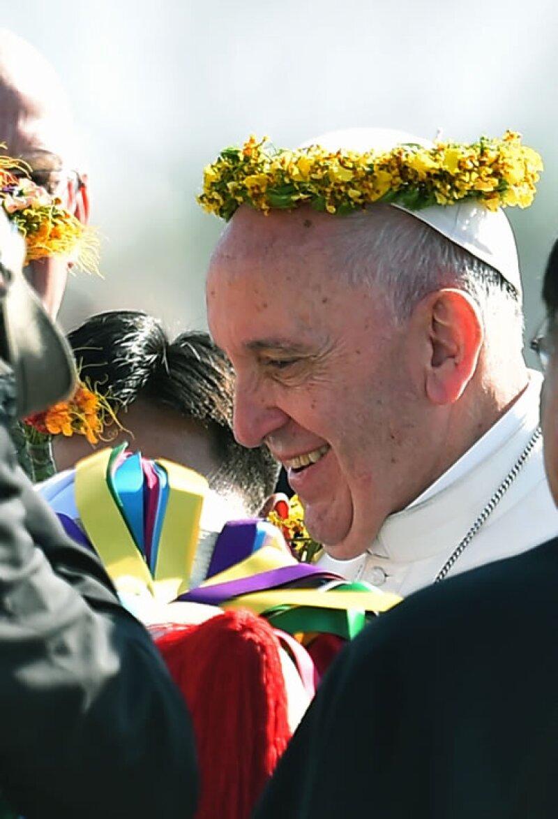 Papa Francisco en Chiapas.