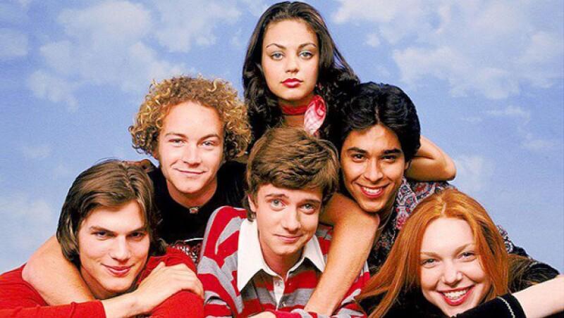 El elenco de That ´70s Show en su primera temporada.