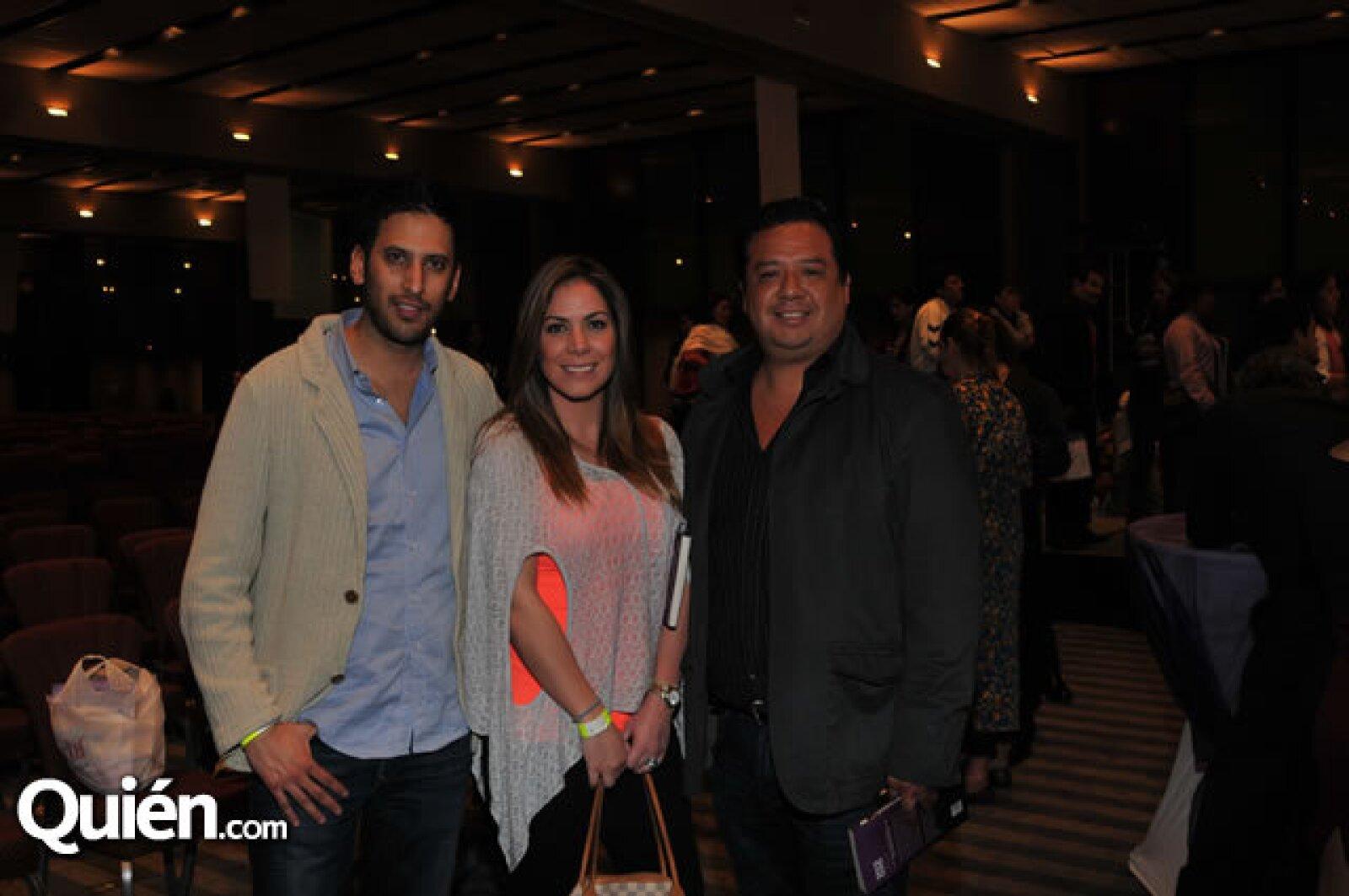 Jorge de la Parra, Verónica Rins y Luis Morales