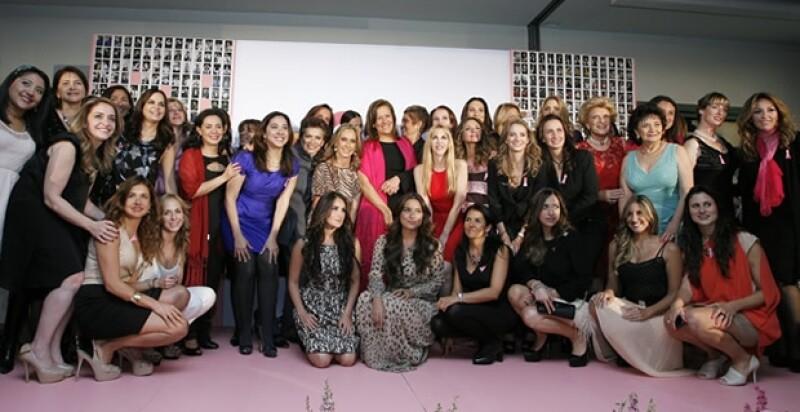 Margarita Zavala, Patricia Reyes Spíndola, Eiza González, Dulce María, entre muchas otras mujeres, se reunieron en favor de un México sin cáncer.