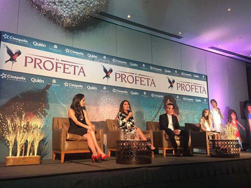 """La actriz se encuentra en México para promocionar la cinta """"El profeta"""", de la cual es productora. Además, opinó sobre el tema de Kate del Castillo y &#39El Chapo&#39"""
