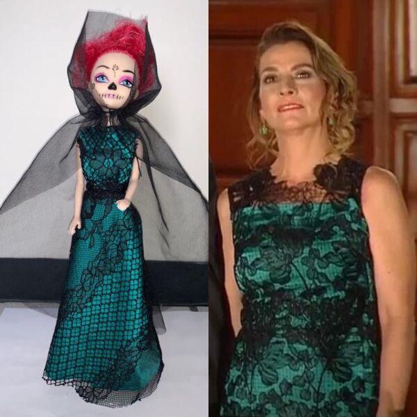 Recrean vestido de Beatriz Gutiérrez para una muñeca 1.jpg