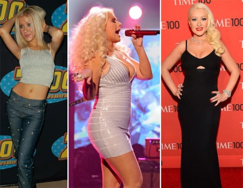 Christina Aguilera ha mostrado diferentes curvas durante años.