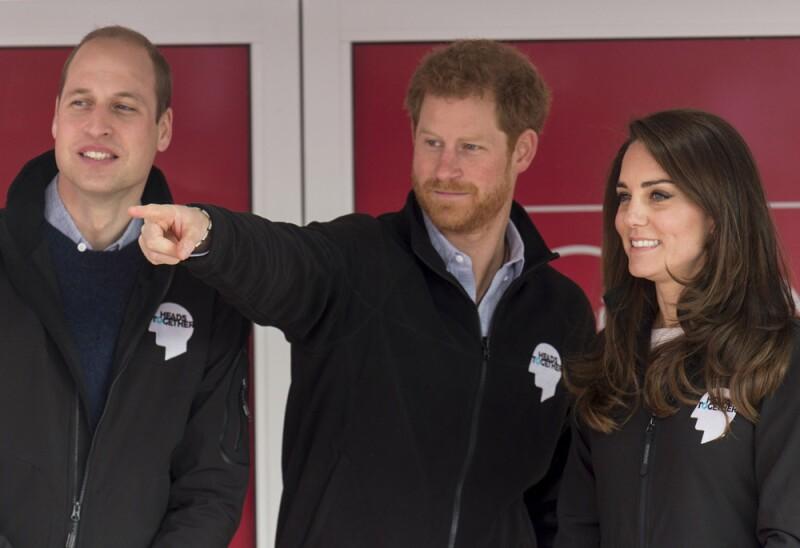 Kate Middleton, príncipe William y príncipe Harry