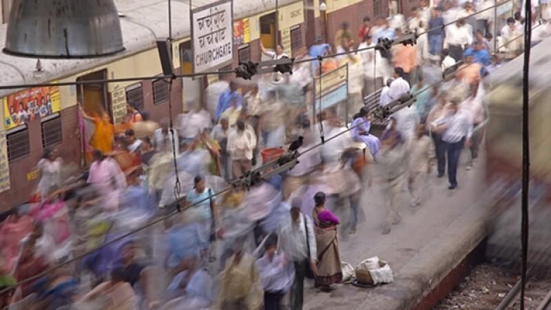 India estacion trenes Mumbai
