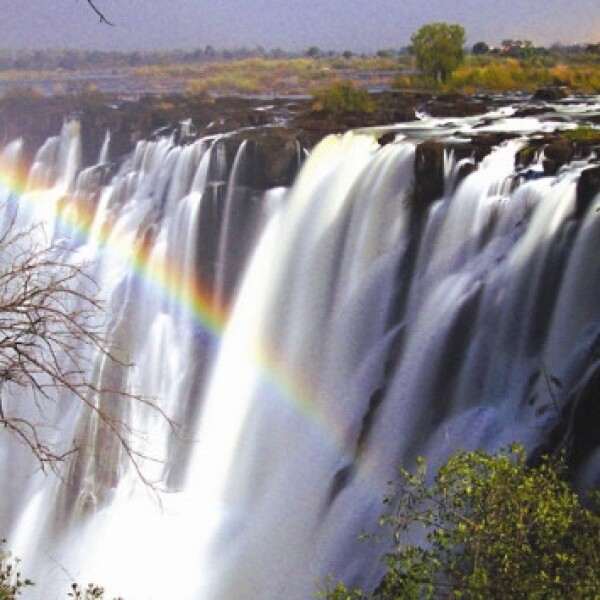 Lunar rainbow, Victoria Falls, Zambia