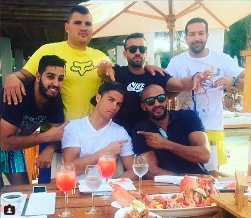 Cristiano presumió su amistad con el boxeador marroquí.