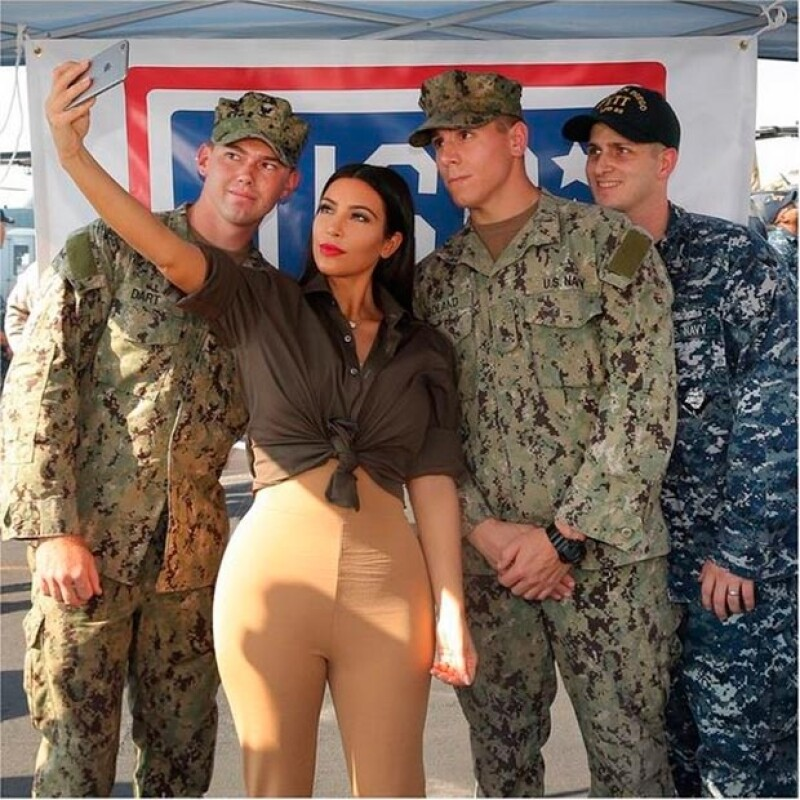 La empresaria ahgradeció el trabajo del ejército estadounidense.