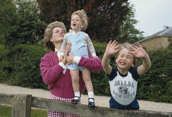 Diana, Harry, William