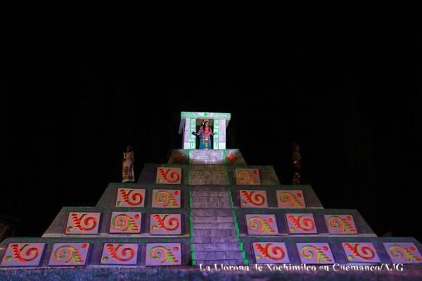 Representación de La Llorona en Xochimilco