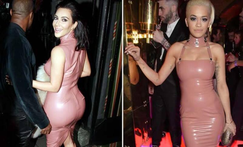 Para esta ocasión Kim eligió un modelo bastante sobrio pero no por ellos menos sensual.