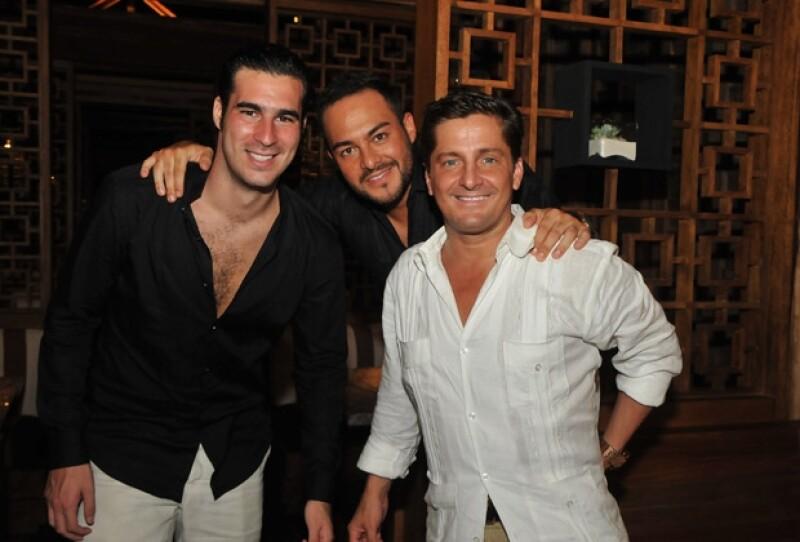 Miguel Torruco Jr. y Alejandro Gallego Basteri, fueron los galanes de la noche.