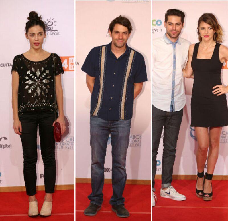 Ilse Salas, Chema de Tavira, Renato López e Iliana Fox desfilaron por la red carpet del festival.