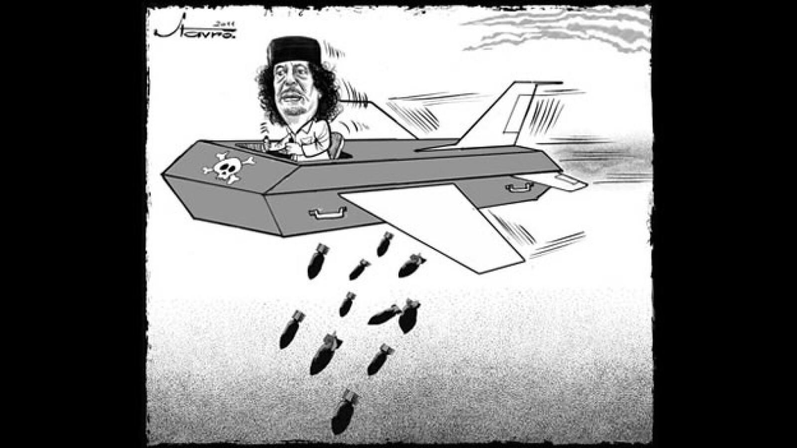 Gadhafi - caricatura - Stavro Jabra