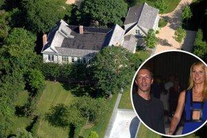 En sus años mosos, Gwyneth y Chris compraron esta mansión en los Hamptons, donde construyeron murallas para tener mayor privacidad.