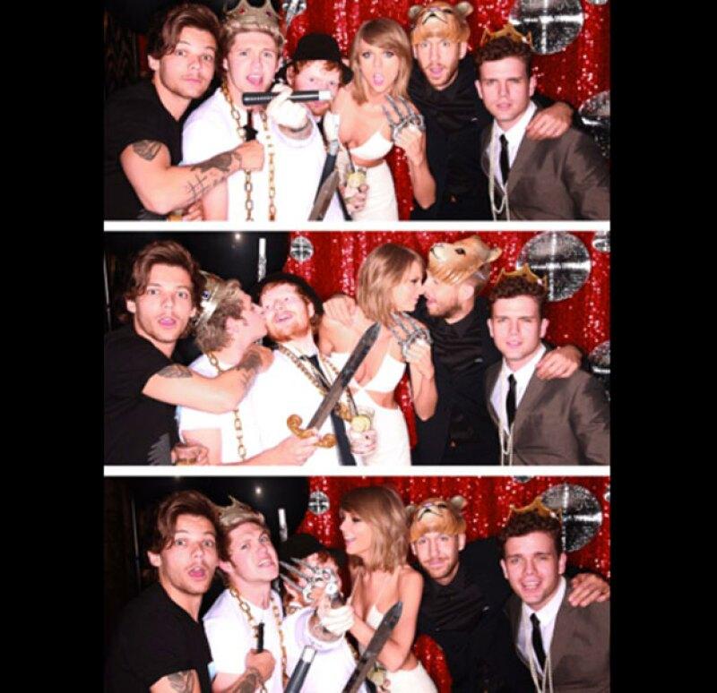 """Los Billboard fue la excusa perfecta para que la intérprete de """"Bad Blood"""" ofreciera una fiesta en la que se pudo ver a los One Direction, Ed Sheeran y su novio Calvin Harris."""