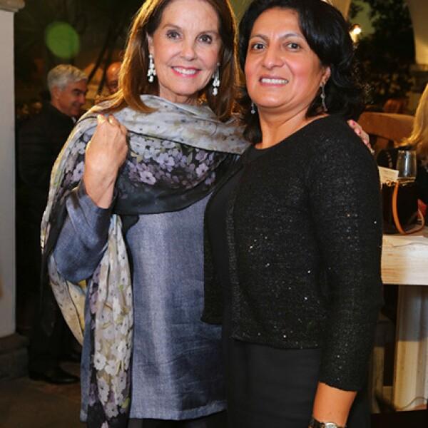 Marinela Servitje y Maribel Ibarra