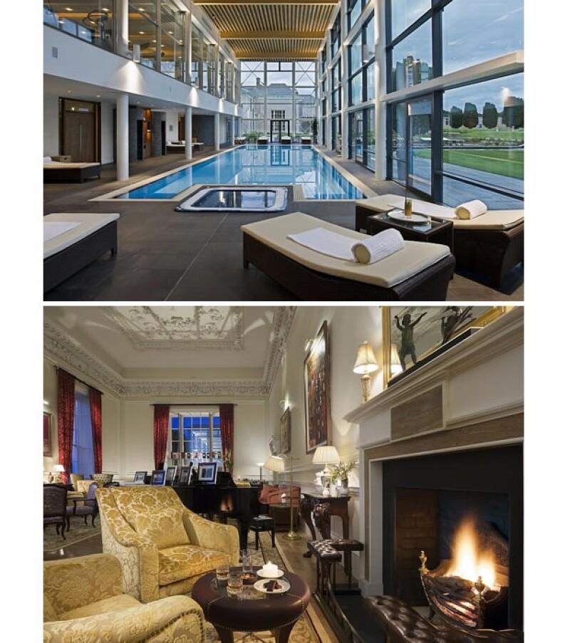 Cuarto de spa y sala de estar del Castlemartyr resort.