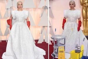 Lady Gaga en los Oscar 2015.