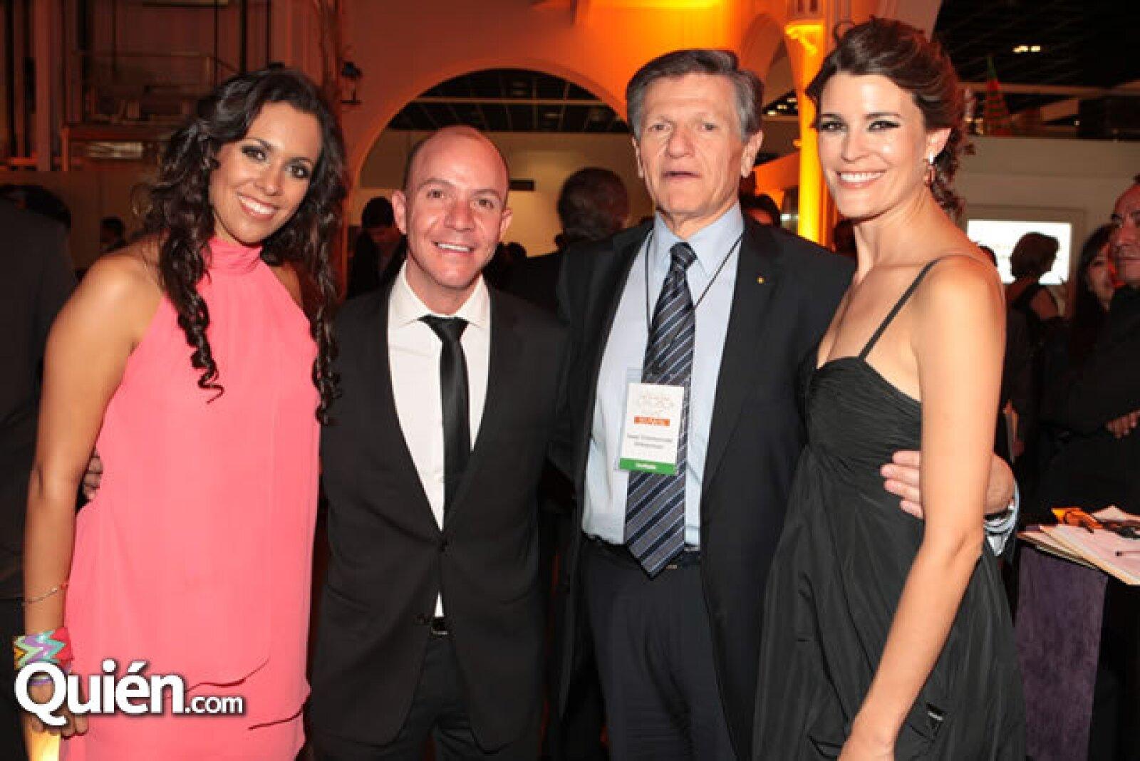 Melissa Vargas, Manolo Ablanedo, Isaac Chertorivski y Fabiola Torres