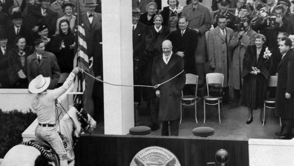 Eisenhower y Montie Montana