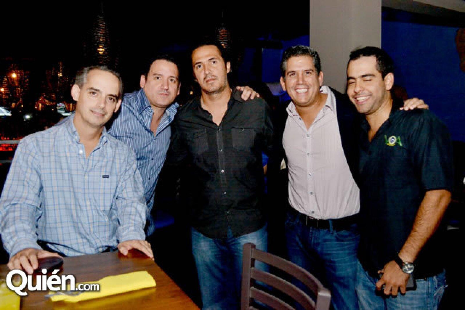 Federico Elizondo, Mauricio Jaime, Carlos Gallegos, Gerardo Alarcón y Azael Olivier
