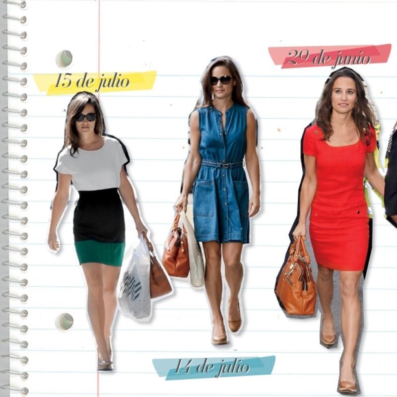 Los looks de Pippa aparecen en todas las revistas de moda.
