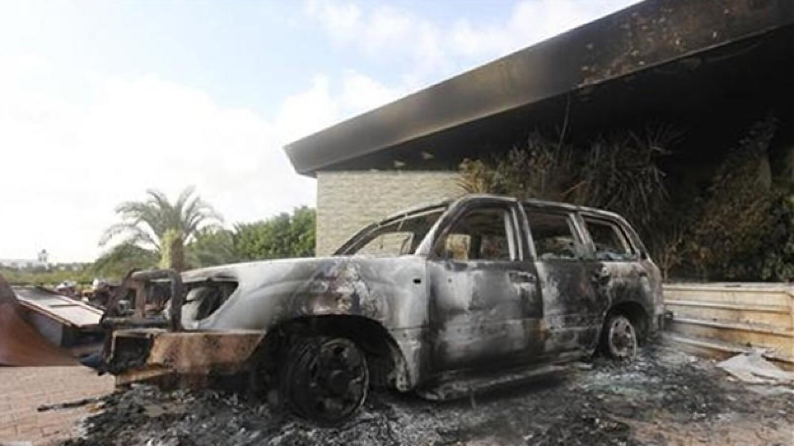 protestas embajada de eu en libia