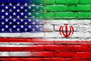 iran estados unidos banderas