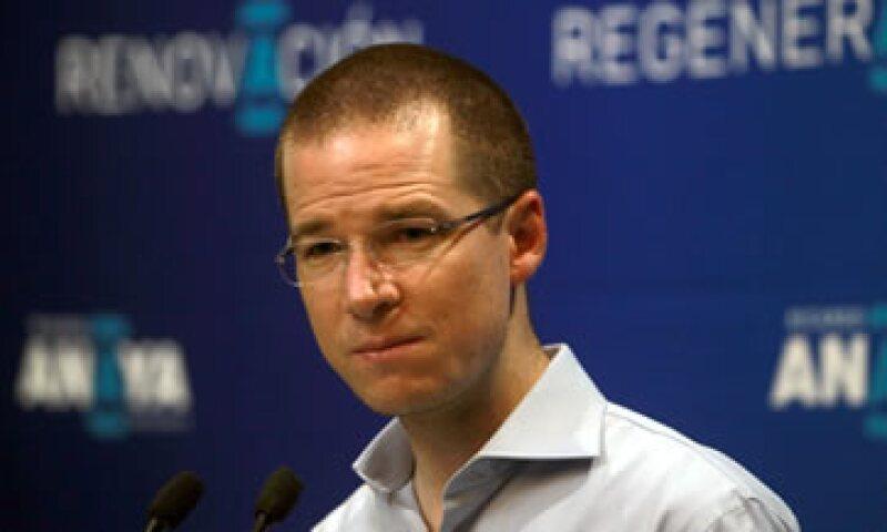Ricardo Anaya, presidente nacional del PAN. (Foto: Notimex)