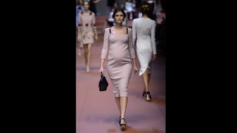 Bianca Balti Dolce & Gabbana modelo embarazada