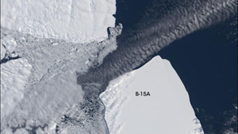 NASA iceberg B15 antártida