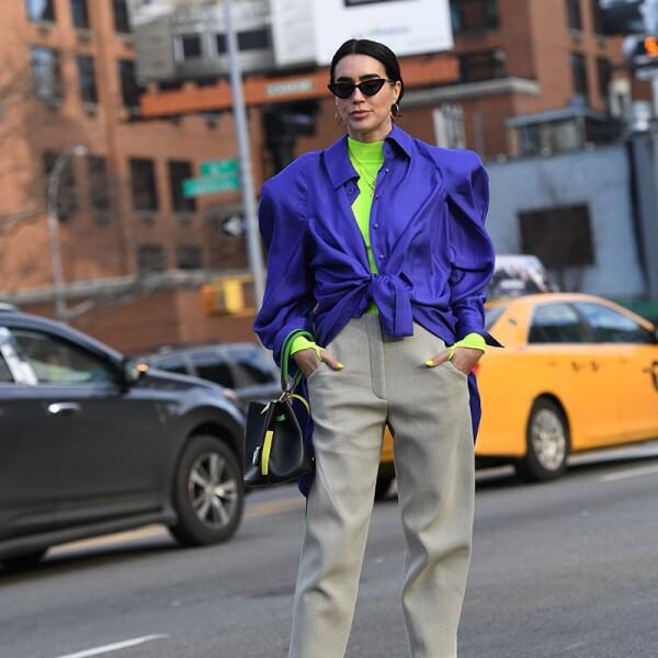 Street Style, Fall Winter 2019, New York Fashion Week, USA - 08 Feb 2019