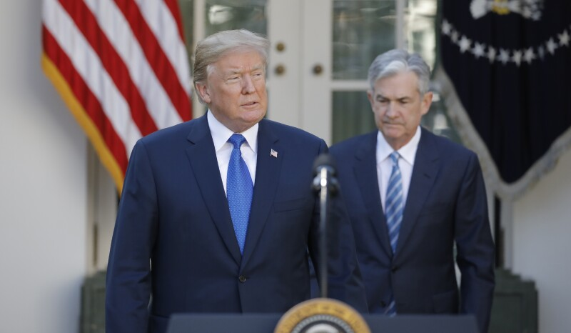 Donald Trump Jerome Powell Fed