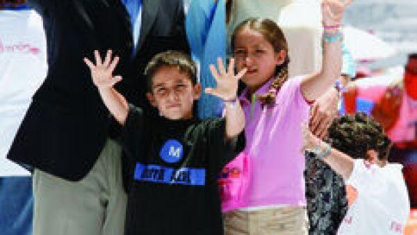 Felipe CAlderon y su familia