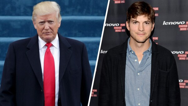 Donald Trump y Ashton Kutcher