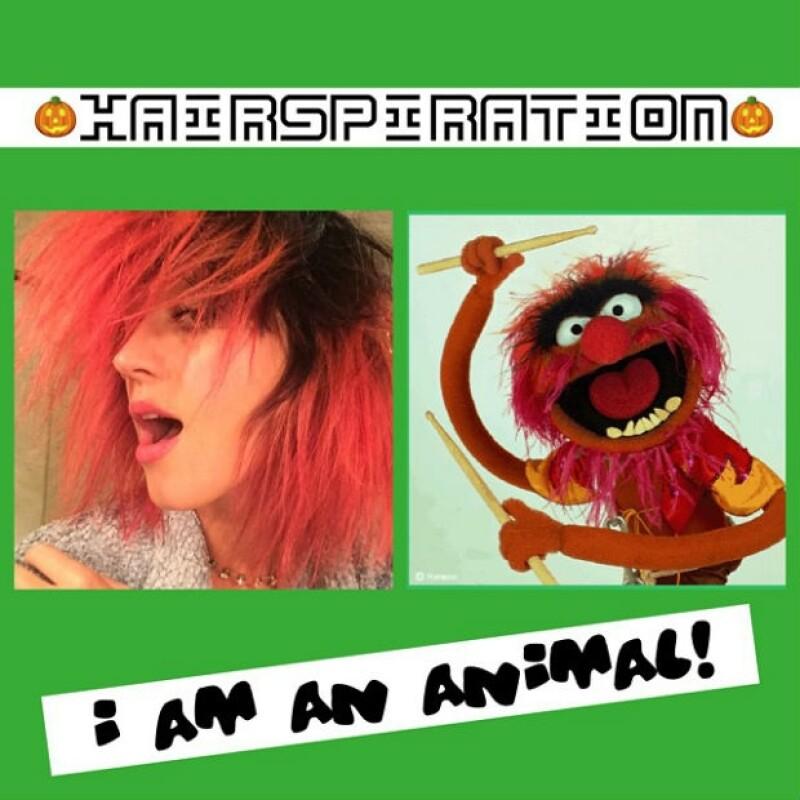 La artista se ha caracterizado por llevar diferentes colores en su pelo y está vez optó por un color rosa al que comparó con un singular personaje.