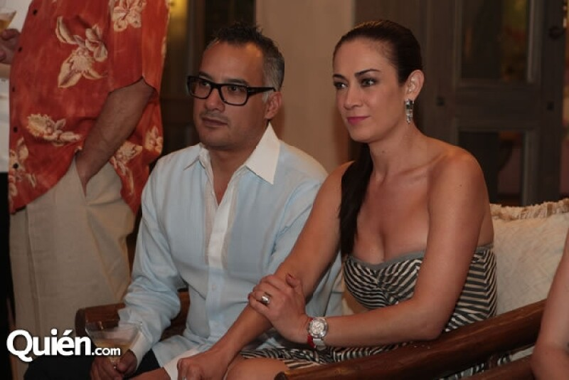 Gregorio Jiménez y Anette Michel presentes en el Punta Mita II Gourmet & Golf Classic 2012.