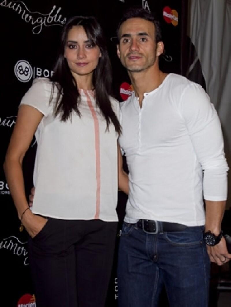 Paola y Rodolfo en el estreno de la obra `Sumergibles´ en enero de este año.