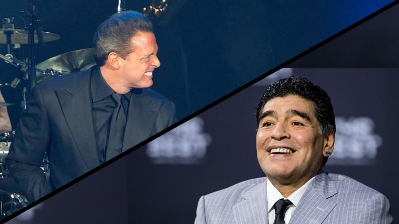 Luis Miguel y Diego Maradona