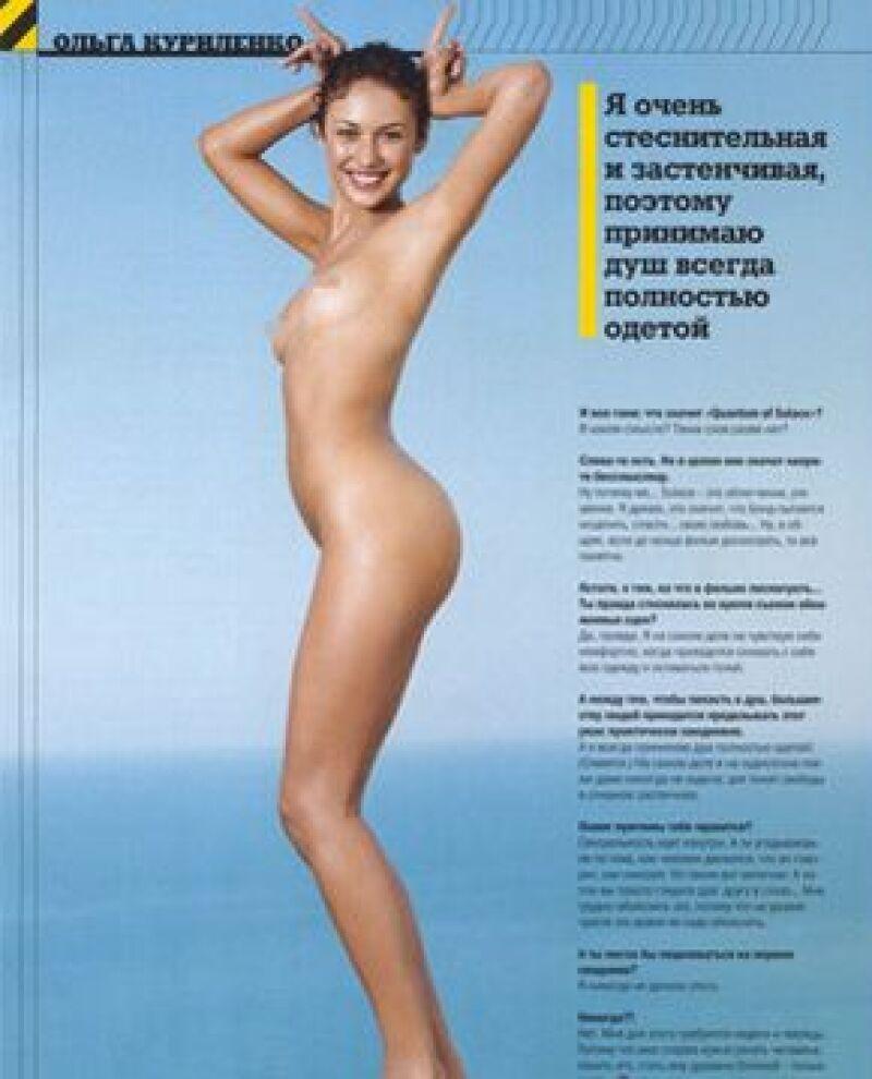 La actriz, quien apareció en la más reciente película del agente 007, aprovechó las páginas de la edición ucraniana de una famosa publicación para posar como Dios la trajo al mundo.